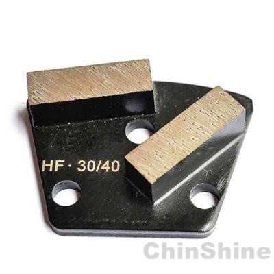 Magnetic diamond grinding shoe